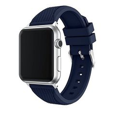 a6421c482dbc Apple Watch Band 42mm Soft Silicone Replacement Sport Strap Breathable Navy  Blue #Junboer #Sport