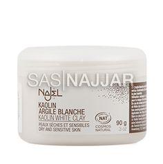 Huidverzorging Witte kleipoeder voor gezichtsmasker - 90 g -