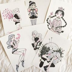 NEW SHOP IS OPEN! Reeartwork.tictail.com (Link is on my bio) i'm selling a few mini-originals from last year's inktober! $18 each✨ I moved from storenvy to tictail because I was pretty mad about storenvy's new ridiculous fee!  And also... SHIPPING IMPROVEMENTS.  Shipping from Chile is way more affordable than shipping from Argentina. Now i have a base shipping rate of 3.75$ worldwide!TRACKING INCLUDED✨ Old and New Stickers will be stocked soon!!✨ #reeartwork