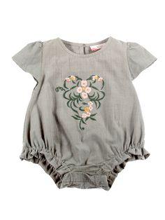 June Embroidery Romper