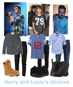 """""""Harry and Louis's Choices"""" by unie4eva on Polyvore featuring Payne, Yves Saint Laurent, Diesel, Officine Generale, Timberland PRO, Snake & Dagger, Scotch & Soda, Converse and Dr. Martens"""