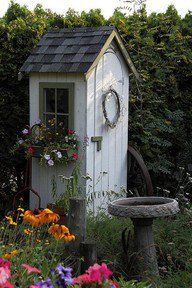 Garden Tool Shed......but Looks Like An Outhouse Tiny Shed