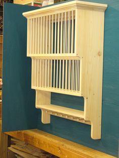 2TIER Shaker Peg Crown Moulding Wood Cup Plate Dish Rack Shelf Cabinet  Kitchen | EBay