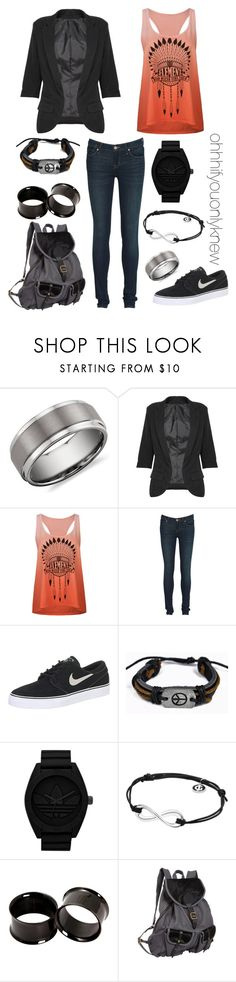 """""""Untitled #62"""" by ohhhifyouonlyknew ❤ liked on Polyvore featuring Blue Nile, Element, Marc by Marc Jacobs, NIKE, adidas Originals, Georg Jensen, Hot Topic, Jas M.B., tomboy and my creations"""