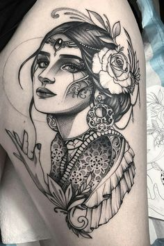 Minus the hand body mods tattoos, tattoo drawings и body art Tattoo Son, Girl Face Tattoo, Back Tattoo, Leg Tattoos, Body Art Tattoos, Sleeve Tattoos, Gypsy Tattoo Sleeve, Thigh Sleeve Tattoo, Inspiration Tattoos