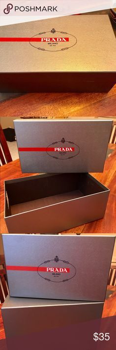 Prada men shoe 👞box 📦 Prada 🔱 men shoe 👞 box 📦! In perfect condition. No dents or rips except a small rip in the interior of the box. Please see pic. 😉 Prada Other