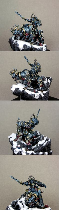 CoolMiniOrNot - Chaos Lord on Juggernaut by Kotlet Schabowy