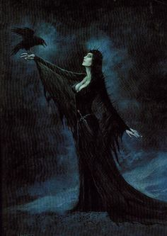 Beautiful picture of The Morrighan, my patron Goddess.