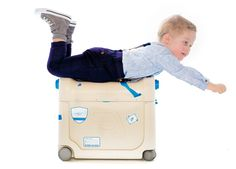 evan's first suitcase that converts into an airplane bed! JetKids® Premium Travel Gadgets for Kids, Children | Ride On Suitcases
