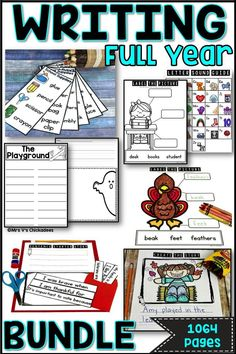 Are you looking for ways to create engaging, student led and differentiated writing centers? Check out this full year writing bundle which includes a variety of writing stations perfect for all writing abilities. Stages Of Writing, Writing Lessons, Writing Activities, Writing Ideas, Phonics Centers, Writing Centers, First Grade Phonics, First Grade Writing, Kindergarten Lesson Plans