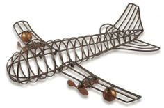 """Airplane Wall Decor, 32HX27W, BROWN by Home Decorators Collection. $69.00. 32""""H x 27""""W x 8""""D.. The Airplane Wall Decor is a wall sculpture with a vintage look. Expertly made of iron in an antique brown finish, enrich your home decor with this artistic home accent. Crafted of 100% iron. Antique brown finish. Actual size is 32HX27W"""