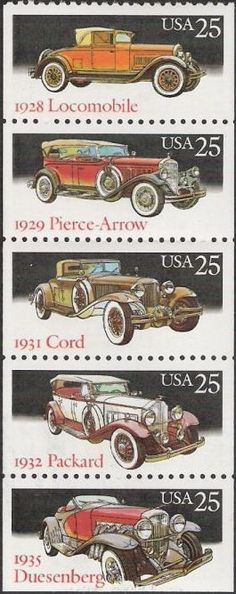 us postage race cars 25 cents   ... pane of five 25-cent U.S. postage stamps picturing antique cars =, I have at least one of each posted individually