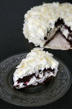 Gâteau chocolat, coco, framboise sous des airs de Forêt Noire