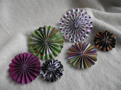 Items similar to Paper Piece Set of Very Chic and Scary Halloween Theme Scrapbooking Paper Flower Rosettes on Etsy Paper Rosettes, Paper Flowers, Scary Halloween, Halloween Themes, Scrapbook Paper, Scrapbooking, Halloween Scrapbook, Pattern Paper, Paper Crafts