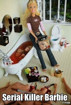Hahaha im going to do this to my barbies ...yes I have a sick mind, I know.