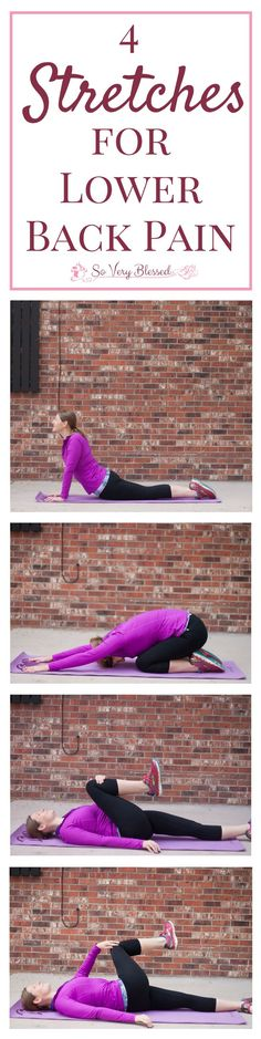 4 Gentle Stretches to Help Lower Back Pain : So Very Blessed…