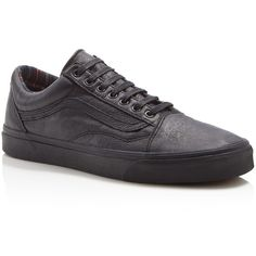b7df77377b Vans Old Skool Leather Sneakers ( 38) ❤ liked on Polyvore featuring men s  fashion