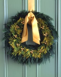 See the Golden-Cedar Wreath in our Holiday Wreaths gallery