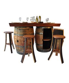 This Wine Barrel Bar/Island Set by Napa East Collection is perfect! #zulilyfinds