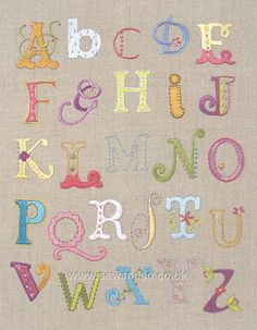 Alphabet Sampler Embroidery