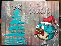 Mindy Cottingham: Bird Crazy Christmas Card - Tim Holtz dies