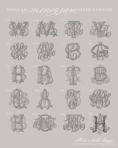 Custom monograms: Monograms — Allison R. Banks Designs