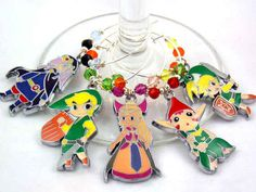 Legend of Zelda wine charms   The 33 Best Geeky Things To Buy On Etsy