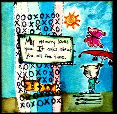 Watercolor on Inchie Arts watte board/ Sunny Carvalho