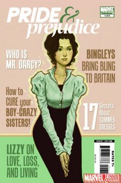 "Marvel Comics ""Pride & Prejudice"" issue #1 (2009) $3.99"