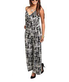 Look at this #zulilyfind! Black & White Hatch-Mark Jumpsuit by Shop the Trends #zulilyfinds
