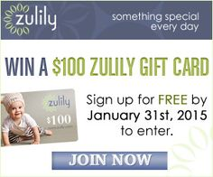 Win a $100 Zulily Gift Card | Closet of Free Samples | Get FREE Samples by Mail | Free Stuff