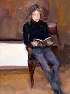 Eva - Oil on wood, 34 x 24 cm. Artist collection.