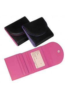 Black & Purple Ladies Wallet. Royce Leather RFID-142-5 RFID Blocking Ladies Wallet.
