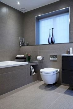 95 Amazing Small Bathroom Remodel Ideas 95 Amazing Small Bathroom Remodel Ideas 46 Amazing Small Bathroom Remodel Design Ideas Super cute sink idea, maybe for a powder room? (Remodel DIY bathroom) # remodel Modern – bathroom tiles in black. Small Grey Bathrooms, Small Bathroom Layout, Grey Bathroom Tiles, Bathroom Tile Designs, Modern Bathroom Design, Bathroom Interior Design, Bathroom Ideas, Bathroom Remodeling, Remodeling Ideas
