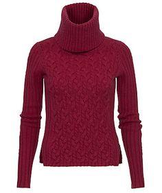 BOSS Orange Pullover in kräftigem Burgunderrot  #burgundy #sweater #www.fashion.engelhorn.de