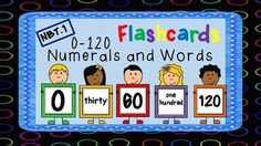 These number flashcards are incredibly useful in so many ways.  This packet includes all numbers from 0-120 in numeral form and in word form.  It also includes a list of activity suggestions and math center game suggestions (and how to play).They are common core aligned, colorful, easy to read, and so much fun to use in your classroom.