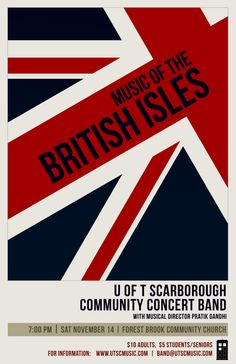 British Isles Poster 2 Club Poster, British Isles, Musicals, Author, Student, Concert, Writers, Concerts, Musical Theatre