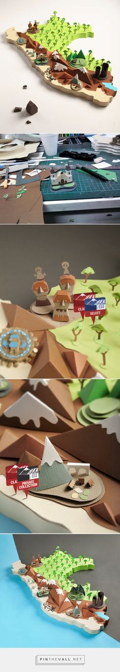 Map of Perú - Papercraft on Behance... - a grouped images picture - Pin Them All
