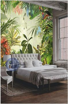 Custom photo wallpaper wall murals Tropical jungle plant wall wallpaper Banana wall background home decoration – Wallpaper Ideas Decor, Home Decor Inspiration, Tropical Houses, Tropical Home Decor, Home Decor, House Interior, Tropical Decor, Popular Interior Design, Interior Design