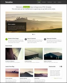 28 Free HTML5 Website Templates Layout