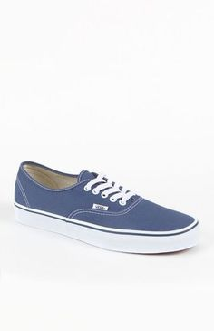 Another incarnation of the truly authentic Vans shoe. And we don't say that just because that's its name- although it does help. The canvas body on this shoe adopts Van's usual low-profile design. The top slopes gently down to the flat toe,and the simple design, high white walls, and super low profile all make this sneaker instantly recognizable. And if there's any confusion? The outer foot contains a Vans logo flag. Just so no one will think you&rs...