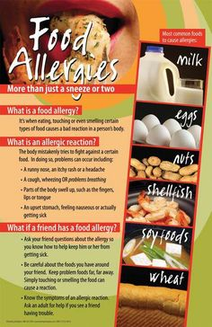 Experiencing an allergic reaction? It could be a food allergy. #food #allergies