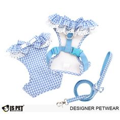 Brand: IsPet Dog harness with lead.    Size Length Chest Neck   S 9-10' 12-13' 8-9'   M 10.5-11.5' 14.5-15.5' 9.5-10.2'   L 12-13' 17-18' 11-12'