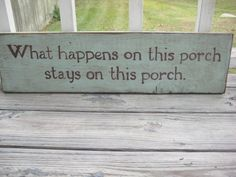 Rustic wood painted porch sign by aliciaslittlehouse on Etsy, $25.00