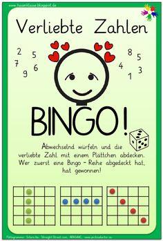 Das Verliebte Zahlen - Bingo! ist älteres Material, das ich nicht für meine Schülerinnen und Schüler, sondern für die Hasentochter erstellt ...