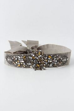 Crystallized Citrine Belt #anthropologie