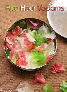 Rice Flour Vadam - Easy Vathal Recipes | Sharmis Passions