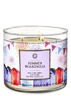 Shop Summer Boardwalk Candle at Bath And Body Works! Fill your home with the most irresistible, beautiful fragrance today. Bath Candles, 3 Wick Candles, Scented Candles, Bath Body Works, Lip Scrub Homemade, Homemade Facials, Summer Scent, Bath And Bodyworks, Lip Scrubs