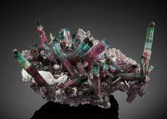 """Minerals:Cabinet Specimens, TOURMALINE with QUARTZ & ALBITE on LEPIDOLITE: """"BIG BEAUTY"""".Burkhard's Pocket, 2006. Pederneira Mine, São José daSa..."""