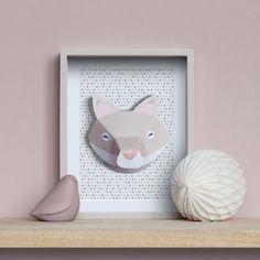 Trophée animaux en papier : renard #DIY #fox #paper www.idee-creative.fr